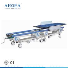 AG-HS004 con sistema de bloqueo central camilla móvil de transporte de pacientes del hospital
