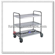 S086 Assembling 3 Layers Stainless Steel Service Trolley