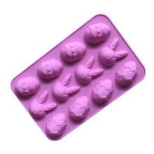 easter egg rabbit shape silicone cake molds