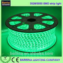 High Voltage CE RoHS 120LED warm Green color LED Ribbon light