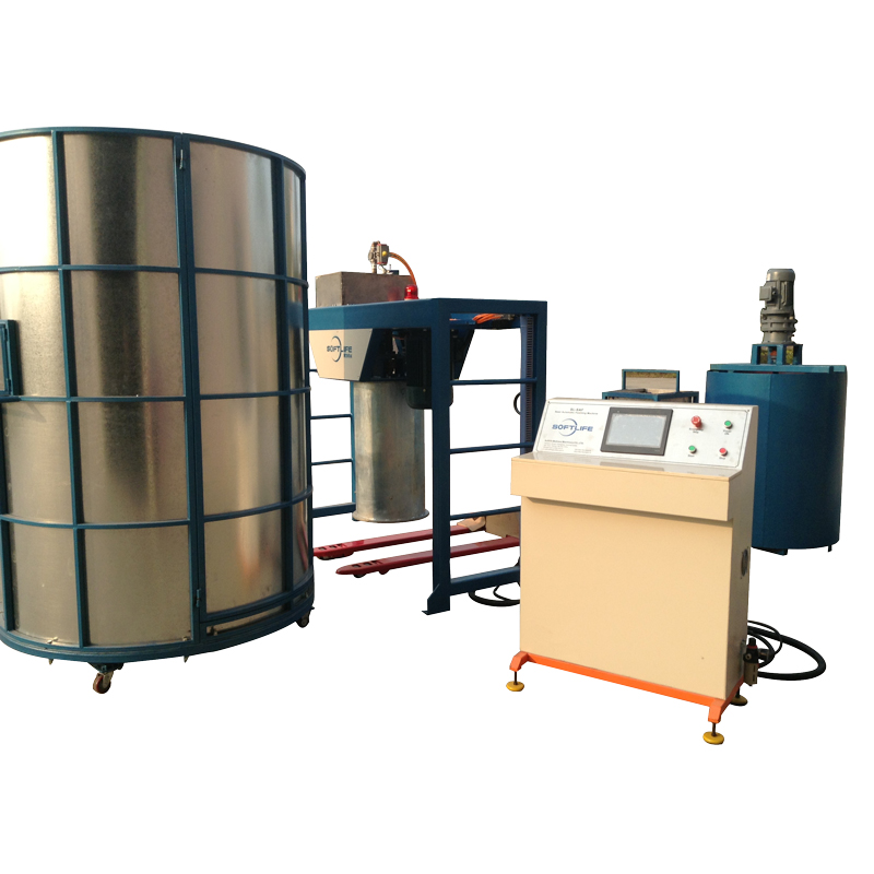 Cylinder type semi-automatic sponge foaming machine