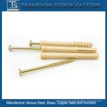 M10 * 100 vis ancrages de fixation en nylon