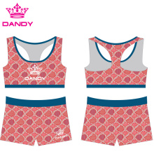 Cheap Sublimated Kids Cheerleading Practice Wear