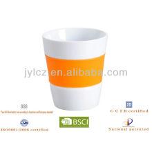 100cc Keramik Tee Kaffeetasse mit Silikonband
