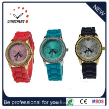 2016 Unisex Kunststoffgehäuse Silikon Armband Uhr Silikon Uhr (DC-187)
