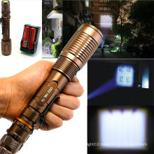 factory OEM custom high quality led rechargeable flashlight