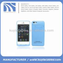 2200mAh bateria externa caso de energia de backup para iPhone 5c azul