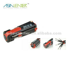 8 en 1 linterna multi destornillador con 4 luces LED