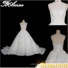 Tiamero branco halter strapless backless wrapping bandagem bolha vestido de noiva de vestido de bola