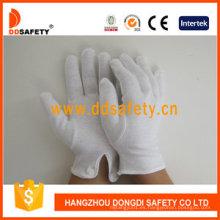 Guantes de trabajo 100% Bleach Cotton Interlock con Ce Dch109