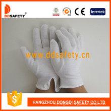 100%Bleach Cotton Interlock Work Gloves with Ce Dch109