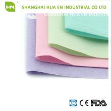 Coloridos 1ply papel 1ply poli cubierta de cabezal dental de papel desechable
