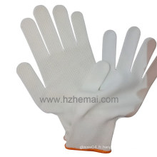 Gants de polyester 13 Gauges PVC Gants de sécurité industrielle pour points de sécurité