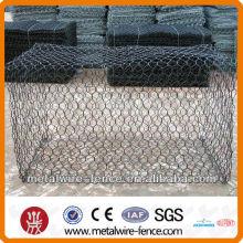 PVC coated and galvanized gabion basket for construction