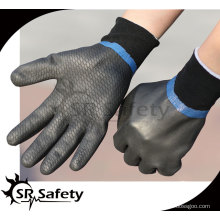 SRSAFETY Маслостойкие перчатки / промышленные полностью покрытые черной пеной нитриловые перчатки песчаная отделка