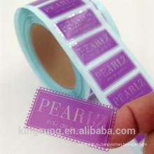 прозрачный стикер PVC для продуктов премиум-класса с лазерной печати