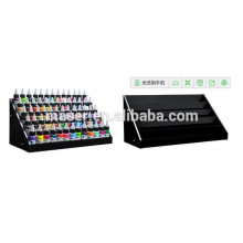 Support professionnel professionnel en acrylique à 5 niveaux en acrylique noir