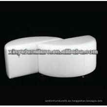 Blanco de color cisne medio ottoman redonda XW1022