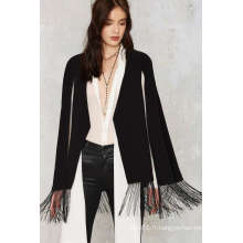 Fashion Office Fringe Femmes Cape