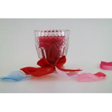 Vela de cera de soja multicoloridos em um frasco de vidro de vinho tarteada vela frasco para decoração de casa