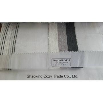 Neue Populäre Projekt Streifen Organza Voile Sheer Vorhang Stoff 0082133