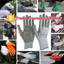 SRSAFETY 13G Black Seamless Knitted Nitrile Working Gloves/safety gloves/knitted gloves