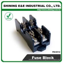 FB-6012 Din Rail montado 600V 15 amperios 2 polos 6x30 caja de fusibles de anillas
