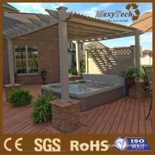 Composite Wood Garden Pergola with Low MOQ Requirement.