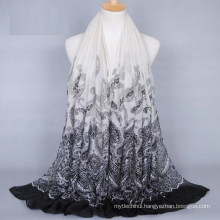 Wholesale women cashew printing voile scarf hijab and shawls hijabs