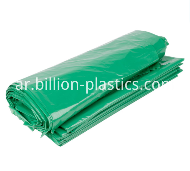 green garbage bag