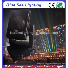GuangZhou 4/5/7/10KW color changeable moving head xenon searchlight