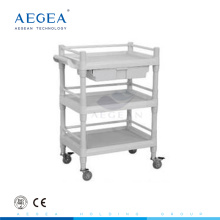 AG-UTB09 ABS material hospital plastic utility cart with side handle
