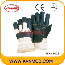 Темная кожаная кожа Зимняя рабочая перчатка (31302)