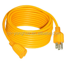 US Wire YH08146-02 12/3 100-Feet SJTW Yellow Heavy-Duty Lighted Extension Cord