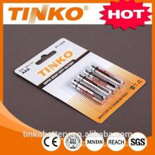 1.5V aaa pile au zinc carbone R03P faite par grande usine avec une bonne qualité en carte blister