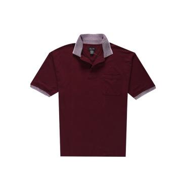Men′s Plain Golf Jacquard Collar Polo Shirt