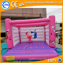 PVC princesse rose château / gonflable bouncer house, gonflable bulle bouncer bébé trampoline