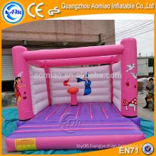 PVC pink princess castle/inflatable bouncer house, inflatable bubble bouncer baby trampoline