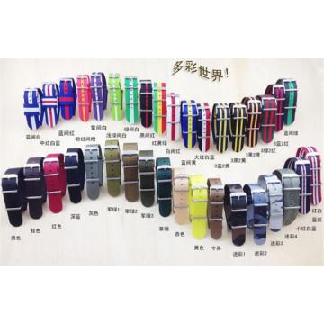 Yxl-601 cores múltiplas de alta qualidade Nylon Nato Watch Strap / pulseiras de nylon pulseira de relógio de pulso Made in China