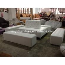 Luxury faxu leather wedding stool furniture sets XYN939
