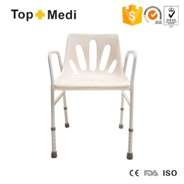 Topmedi Günstiger Preis Aluminium Duschsitz Stuhl mit Rückenlehne für Badezimmer