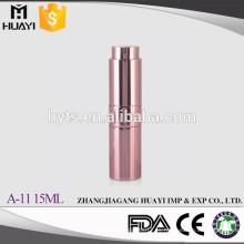 Venta al por mayor a prueba de fugas 10 ml 15 ml 20 ml de aluminio coloreado Twist Up Perfume Atomizer