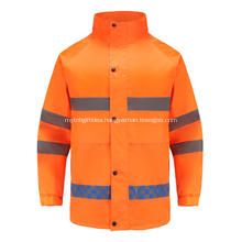 High visibility reflective workwear with invisible zipper