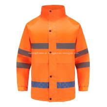 Vestuário de trabalho reflexivo de alta visibilidade com fecho invisível