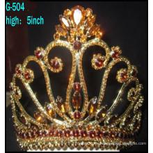 Hochzeit Silber Schmuck Tiara Prinzessin Tiara Große benutzerdefinierte Festzug Tiara Krone