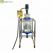 Customized 10L 30L 50L 100L stirring mixing glass vessel reactor for heating and cooling