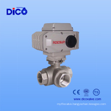 Bsp/BSPT Stainless Steel 3 Way Ball Valve with Electric Actuator