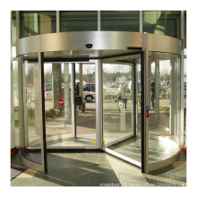 Hot selling hotel 3 wing glass automatic revolving door with 99% safety