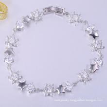 Hot sale love lucky AAA stone of brass bracelets jewelry