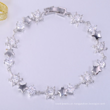 Venda quente amor sorte AAA pedra de bronze pulseiras jóias